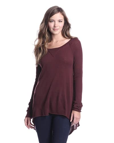 Autumn Cashmere Women's High Low Sweater  - Barberry