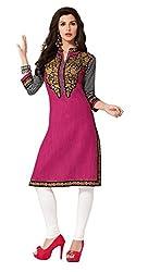 AMP IMPEX Ethnicwear Women's Kurti Fabric PINK_Free Size