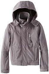 Urban Republic Big Boys' Soft-Shell Zip-Off Hood Jacket