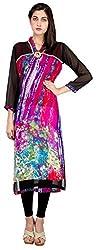 Sneharsh Women's Linen Kurti(SK105 _ 42, Multicolour, 42)