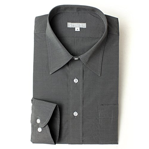 レギュラーカラー 長袖ワイシャツ カラーシャツ メンズ 長袖 ワイシャツ Yシャツ シンプリーアンドビーイング[Simply&Being] Lサイズ