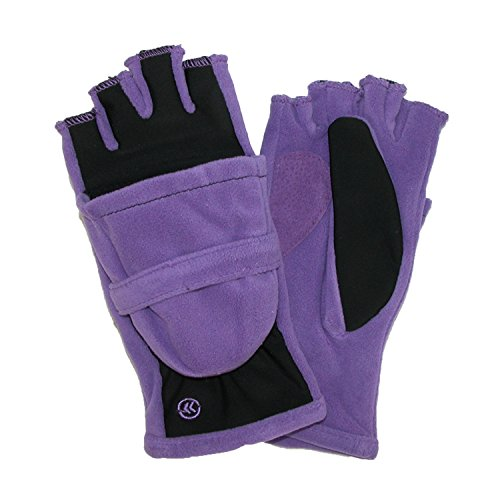 totes ISOTONER Womens Fleece Stretch Convertible Winter Gloves with Thumb Hole