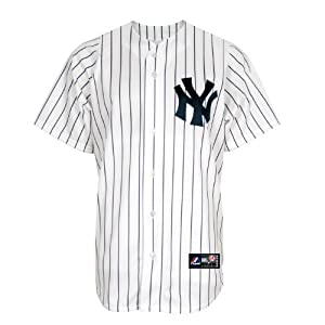 MLB New York Yankees Home Replica Baseball Youth Jersey, White Navy by Majestic