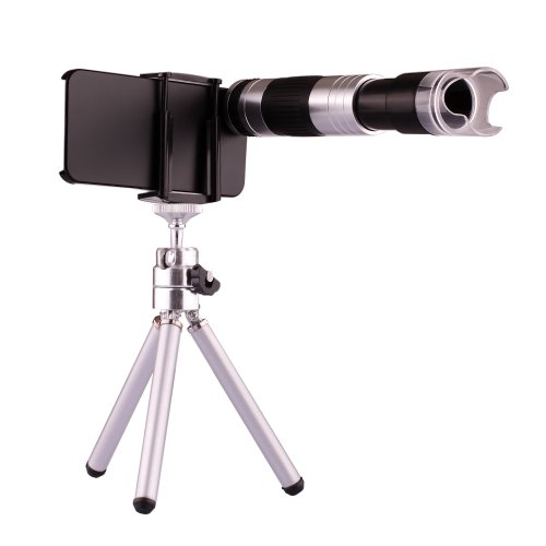 Neewer® 16X Telescope Zoom Camera Lens + 220X Microscope With Tripod & Case Cover For Apple Iphone 5 5S