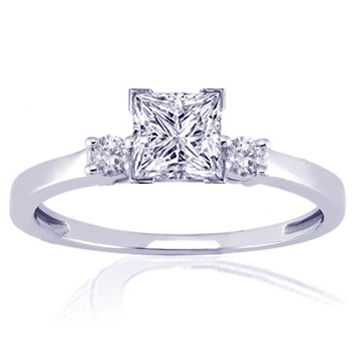 1.10 Ct Princess Cut Diamond Engagement Ring