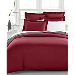 Charter Club Damask Solid 500 Thread Count Full/Queen Duvet Cover Bedding