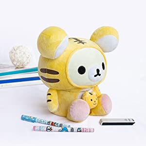 [Rilakkuma - White] Plush Gadget Storage Box / Trinket Box / Pen Pencil Holder (9.8 inch height) Computers, Electronics, Office Supplies, Computing