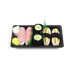 Sushi Socks Box Baby 3 pairs Tamago Maki Cucumber Salmon 0-12 months