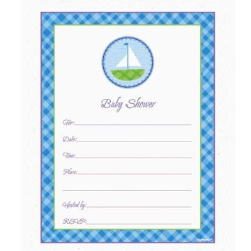 Blue Baby Shower Invitation Value Pack 20ct