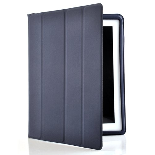ATC Polyurethane Smart Dark Bule cover for Apple iPad 2 2nd generation 16GB 32GB 64GB with automatically Wakes Up iPad 2 on open and Sleeps on close.