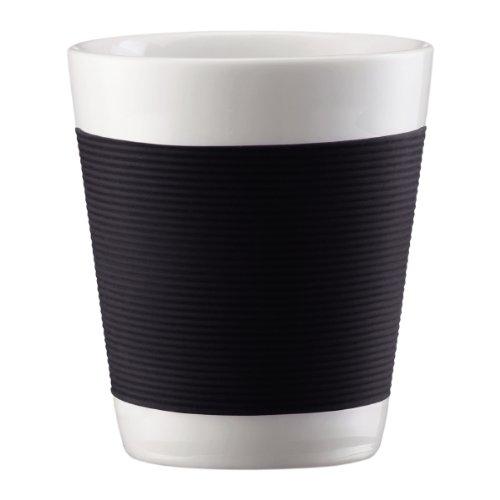 Bodum 10108-01 Canteen 2 Stück Tasse, doppelwandig, 0.1 l, Porzellan