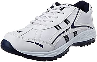 A-Star Men's White and Grey Running Shoes
