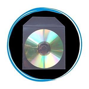 CD Sleeve - Plastic Clear- Plastic Sleeve With Flap - 50 Sleeves