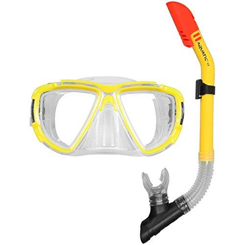 Aqua-Speed ® *BLAZER* + *ZODIAC* Taucherset bestehend aus Schnorchel mit Tauchermaske