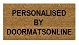 Personalised stencilled coir door mat 70cmx40cm (Add your own text)