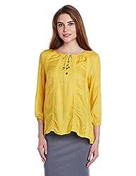 People Women's Tunic Top (P10202362273512_Yellow_X-Large)