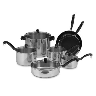 Farberware Classic Series II Stainless Steel 12-Piece Cookware Set