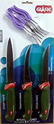 Glare Appliances Knives Set (3pcs set) - Green red