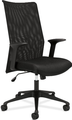 review basyx by hon vl573 mesh high back work chair black fabric black executive mesh back. Black Bedroom Furniture Sets. Home Design Ideas