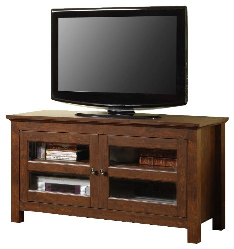 Cheap Walker Edison 44-Inch Full-Door Wood TV Stand Console, Traditional Brown (WQ44CFDTB)