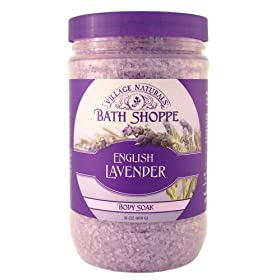 Village Naturals Bath Shoppe English Lavender Body Soak 31 oz