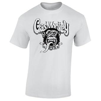 Gas monkey garage monkey logo t shirt xl amazon co uk clothing