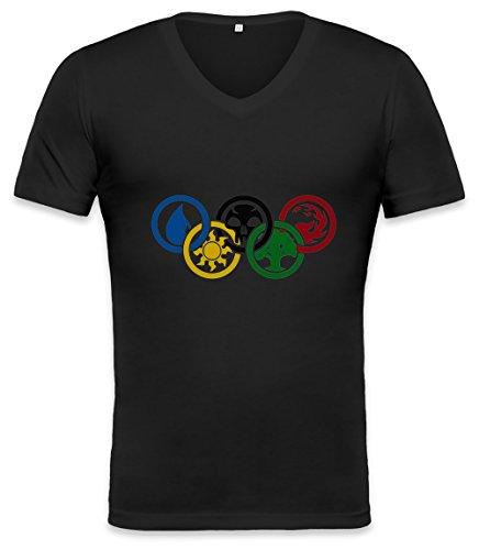 Magic-The-Gathering-Olympics-Unisex-V-neck-T-shirt