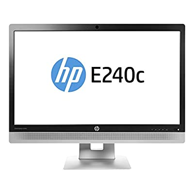 HP M1P00A8#ABA EliteDisplay E240c Video Conferencing, 23.8'', 1080p LED-Backlit LCD Monitor, Black/Silver