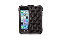 The Joy Factory aXtion Go Rugged Waterproof Case with Diamond Air Cushion Technology for iPhone 5/5S, Touch ID Compatible, Black
