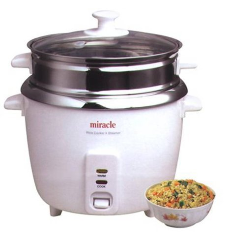 Stainless Steel Rice Cooker Model ME81 (Formerly ME8) - by Miracle Exclusives (Stainless Steel Cooker Electric compare prices)