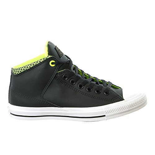Converse Unisex Chuck Taylor All Star High Street Hi Black/White/Volt Casual Shoe 10.5 Men US / 12.5 Women US
