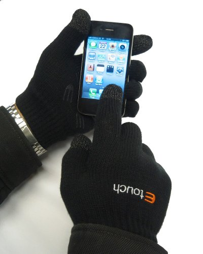 Etouch Touchscreen Gloves, for iPhone, iPad,