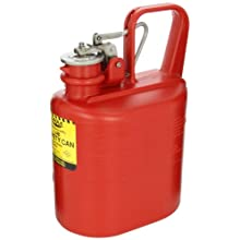 "Eagle 1511 Laboratory Safety Can, Polyethylene, 6"" Width x 13"" Height x 8-1/2"" Depth, 1 Gallon Capacity, Red"