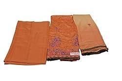 Alankar Textiles Panjabi Suit Piece Orange Color Cotton Dress Material