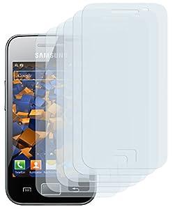 6x mumbi Displayschutzfolie Samsung Galaxy Ace S5830 S5830i Schutzfolie CrystalClear unsichtbar