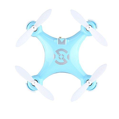CXHOBBY CX-10 - Mini Drone, Cuadricóptero RTF (4 Canales, 6 Axis Giroscopio, 2.4GHz, LUZ LED, 3D eversión) (Azul)