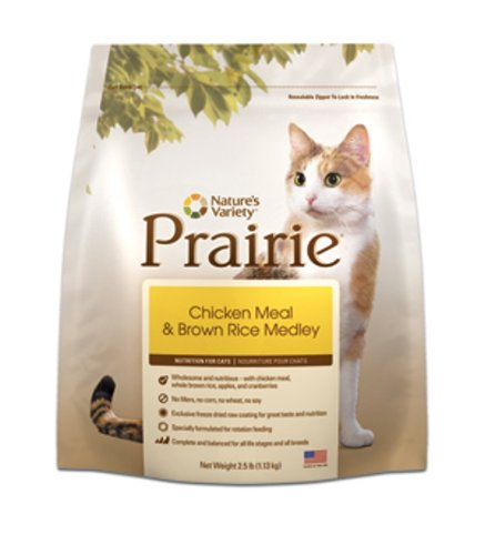 See Prairie Chicken Meal & Brown Rice Medley Dry Cat Food by Nature's Variety, 6-Pound Bag
