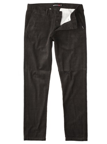 Quiksilver The Krest Cord-KPMPT063 Straight Men's Trousers Anthracite W38 IN x L32 IN