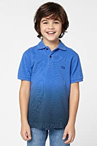 Boy's Short Sleeve Dip Dye Pique Polo
