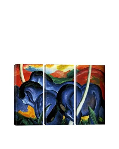 Franz Marc The Large Blue Horse Gallery Wrapped Canvas Print, Triptych
