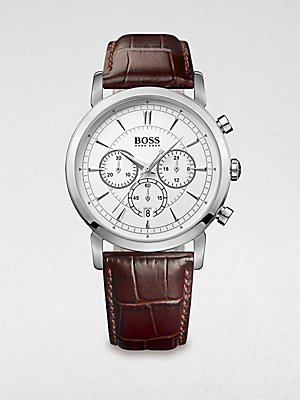 HUGO BOSS' clásico ' que el cronógrafo reloj redondo, 40 mm