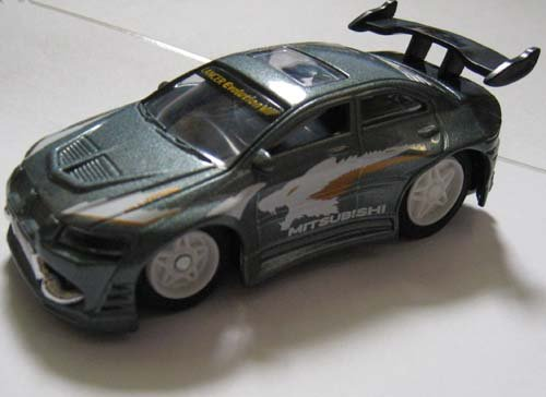 XTuner Die Cast Remote Control Car - Mitsubishi Lancer Evo III R/C Car GRAY