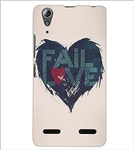 PrintDhaba Love D-5195 Back Case Cover for LENOVO A6000 (Multi-Coloured)