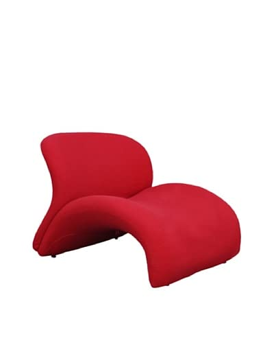 International Design USA Sweet Lip Lounge Chair, Red