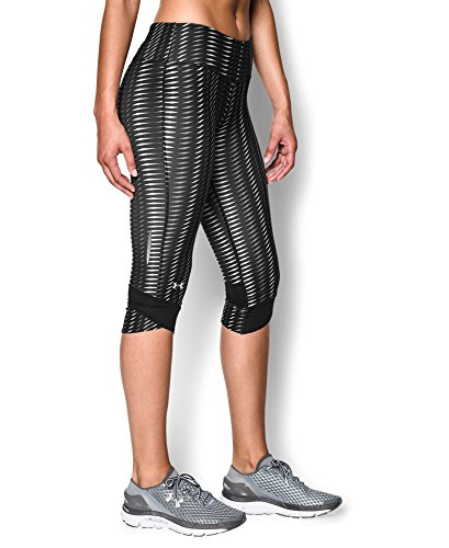 Under Armour Women's UA Printed Fly-By Compression Capri X-Small Black