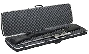 Deluxe Double Scoped Rifle Case Black 52.1 Inch