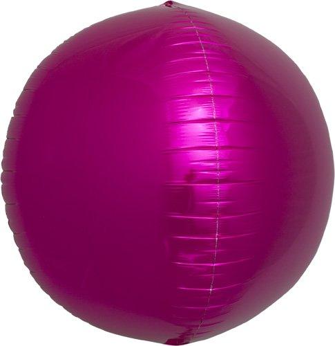 Magenta Sphere Helium Foil Balloon - 17 inch