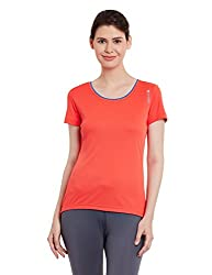 Reebok Women's Logo T-Shirt (AE8375_Red_X-Small)