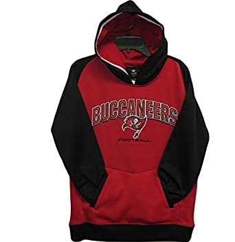 Tampa Bay Buccaneers Red Black NFL Youth 2013 Active Hooded Sweatshirt Size Medium 10... by OuterStuff