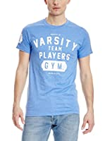 Varsity Team Players Camiseta Manga Corta Gym (Azul)
